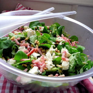salade de mâche au roquefort