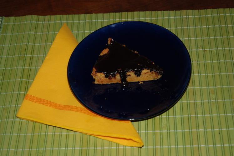 Gâteau aux carottes nappé au chocolat