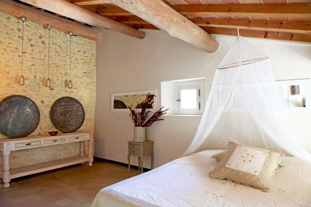Ciel de lit comme une moustiquaire
