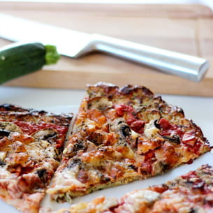 pizza originale aux courgettes : la courgette crust pizza
