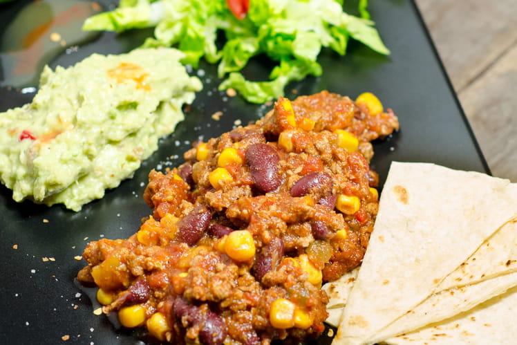 Chili con carne extra tomate