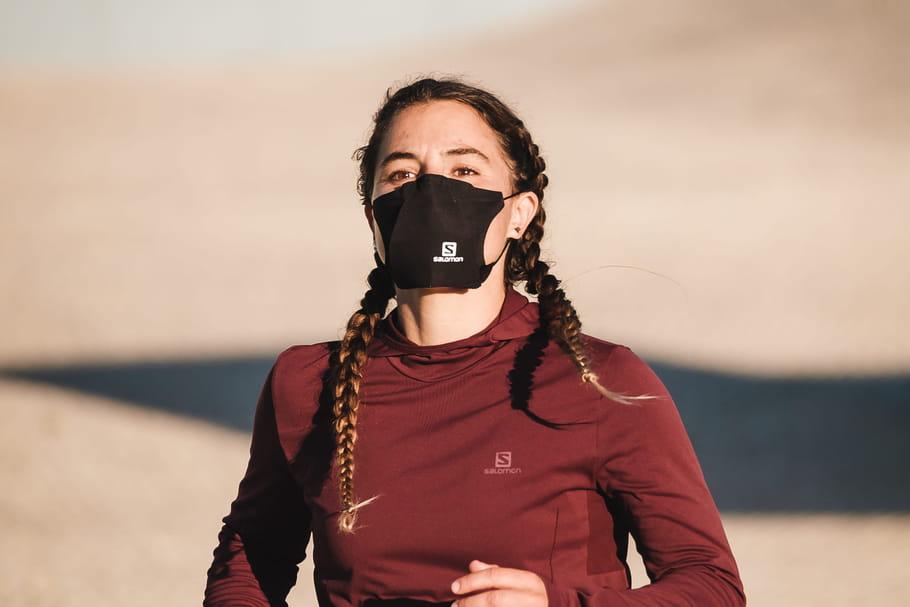 Masque pour le sport: le modèle Salomon (Afnor) est en vente