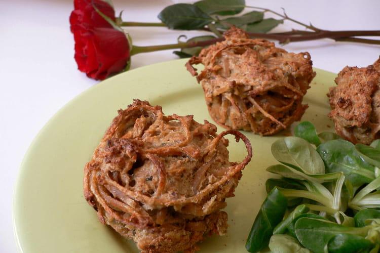 Muffins de linguine au pesto