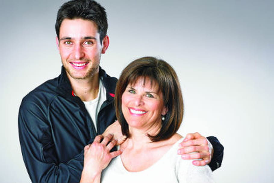 """Jason et Annette Lamy-Chappuis, ambassadeurs pour les JO de la campagne """"Merci maman"""""""