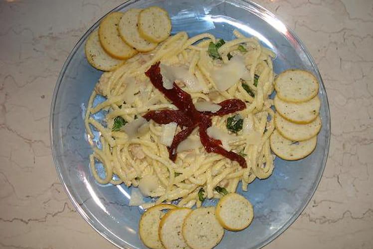 Spätzle sauce au thon et tomates séchées