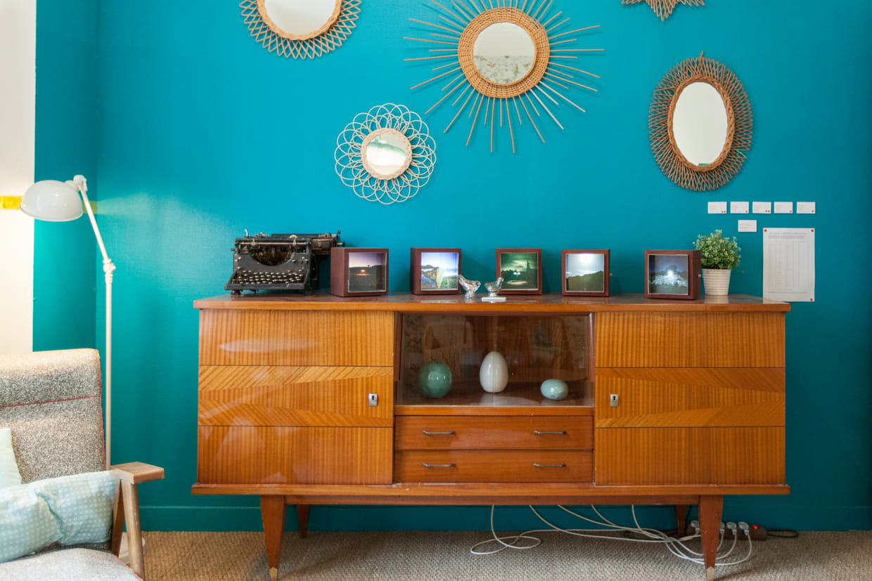 d co vintage en turquoise. Black Bedroom Furniture Sets. Home Design Ideas