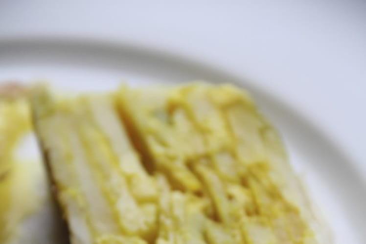 Terrine de poireaux, pommes de terre et safran