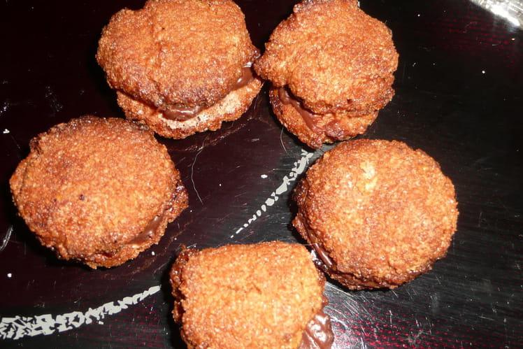 Macarons au chocolat et amandes