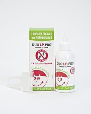 lotion traitante duo lp-pro, 150 ml 10 à 15 euros. dès 6 mois.