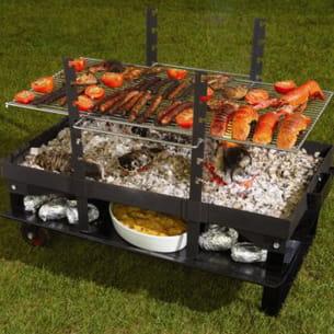 le barbecue feu roulant