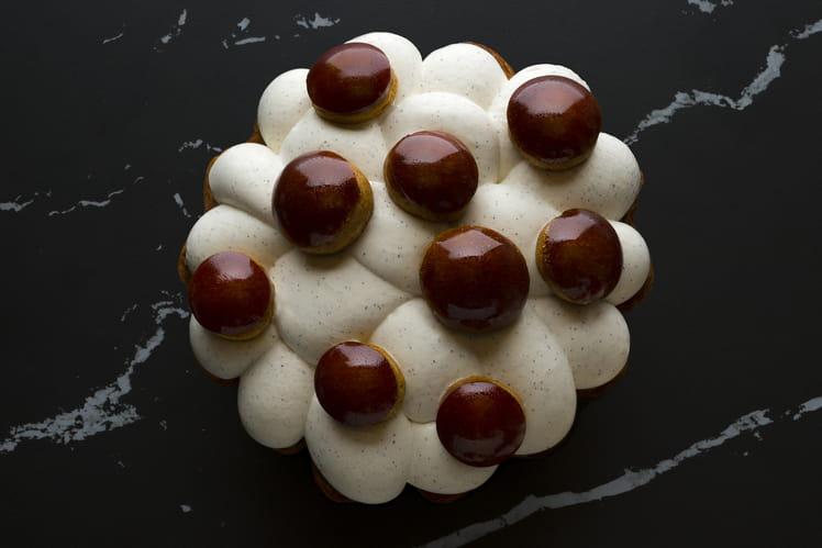 Saint-Honoré vanille caramel de Cédric Grolet