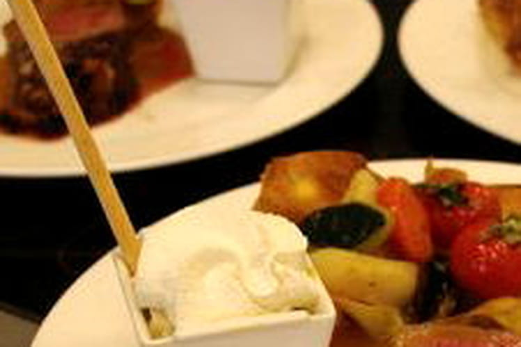 Espuma de foie gras et cappuccino aux noisettes