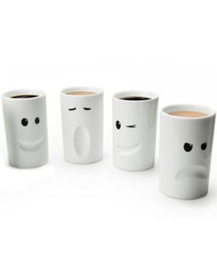 lot de 4 mugs 'humeur' de thabto