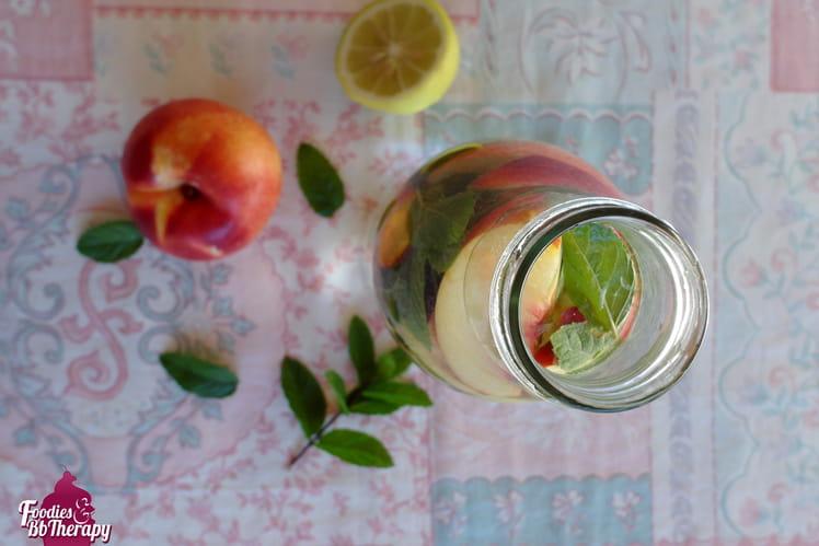 Eau Detox citron menthe nectarine