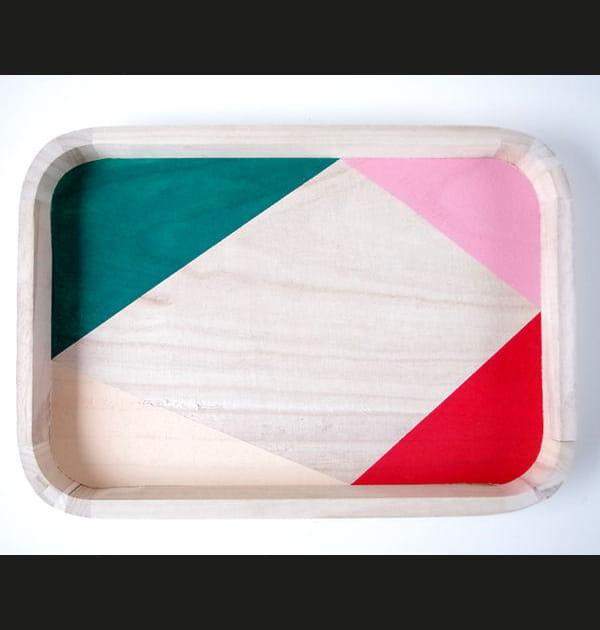 DIY: nouveau look géométrique pour un plateau