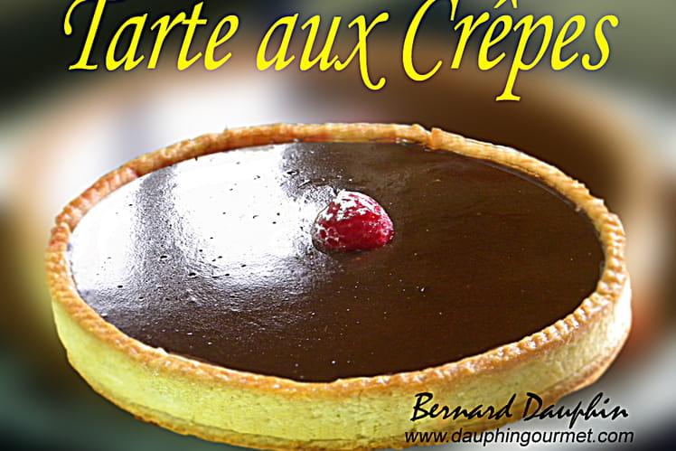 Tarte aux crêpes, framboise chocolat