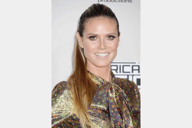 La ponytail haute d'Heidi Klum