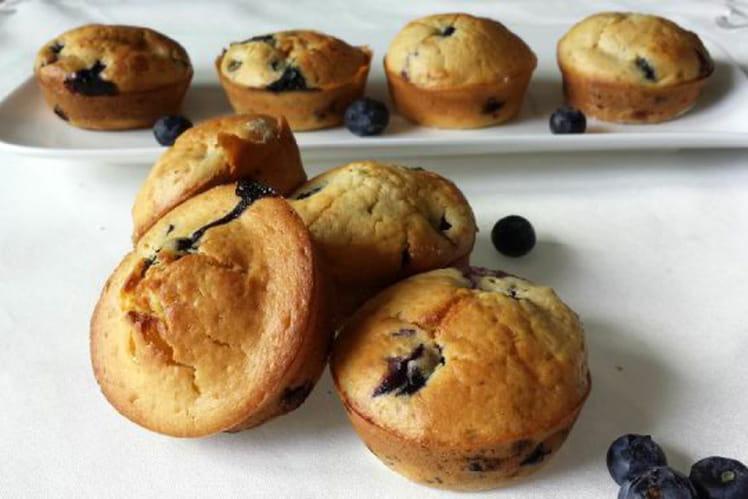 Muffins aux myrtilles simples et rapides