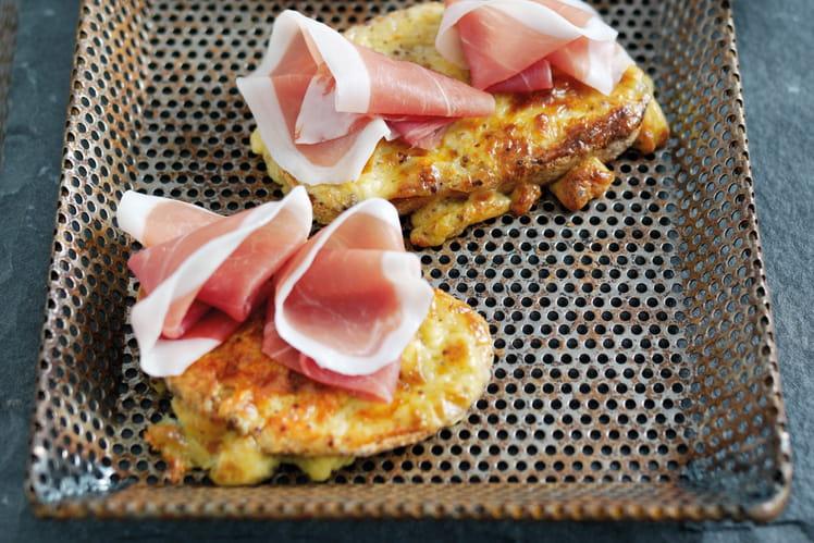 Toasts au fromage et Jambon de Parme