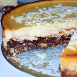cheesecake aux deux chocolats