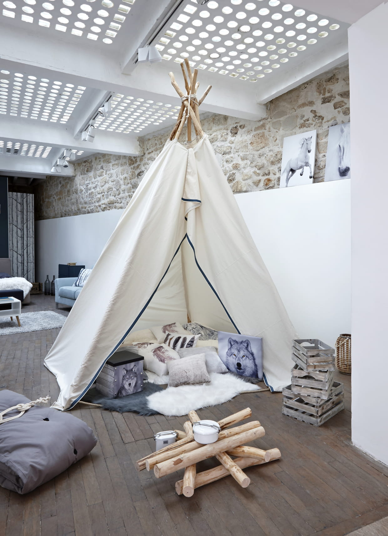 tipi cosy but. Black Bedroom Furniture Sets. Home Design Ideas