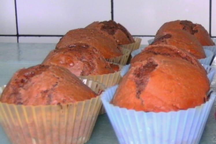 Muffins au chocolat, coeur coulant