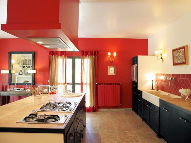 Des cuisines rouge passion