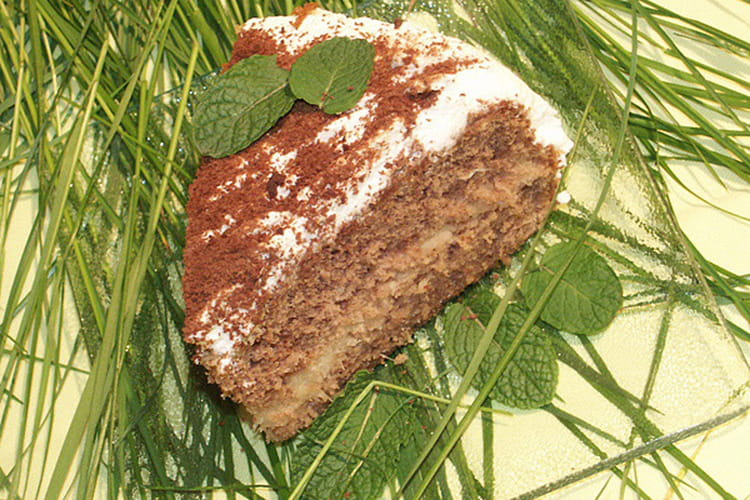Gâteau au chocolat et à l'ananas