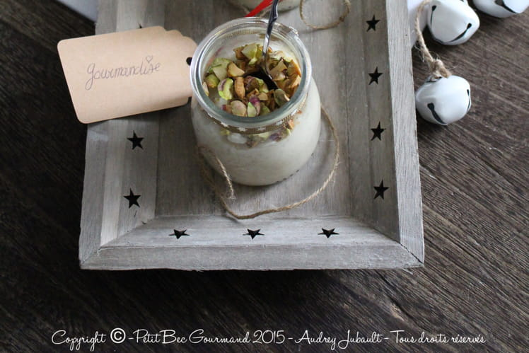 Riz au lait d'amandes et pistaches torréfiées