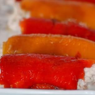 roulade de poivrons au thon