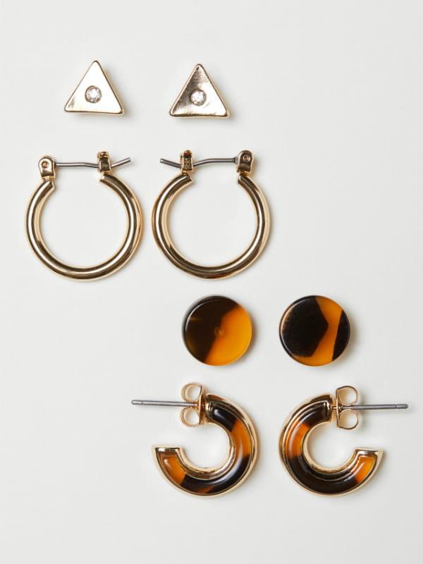 ac9f5603e0 Lot de 4 paires de boucles d'oreilles d'H&M © H&M