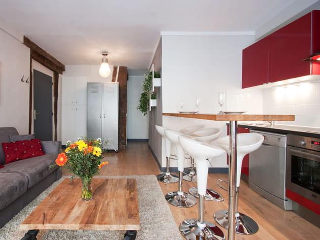 Une cuisine ouverte façon loft