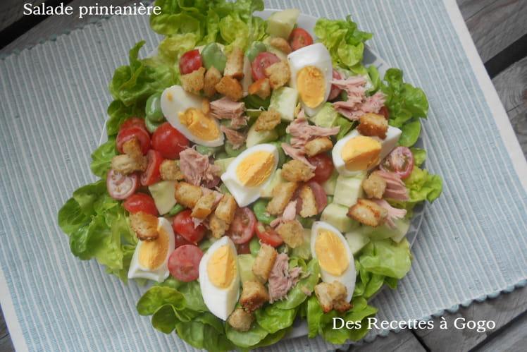 Salade de fèves, tomates cerise et thon