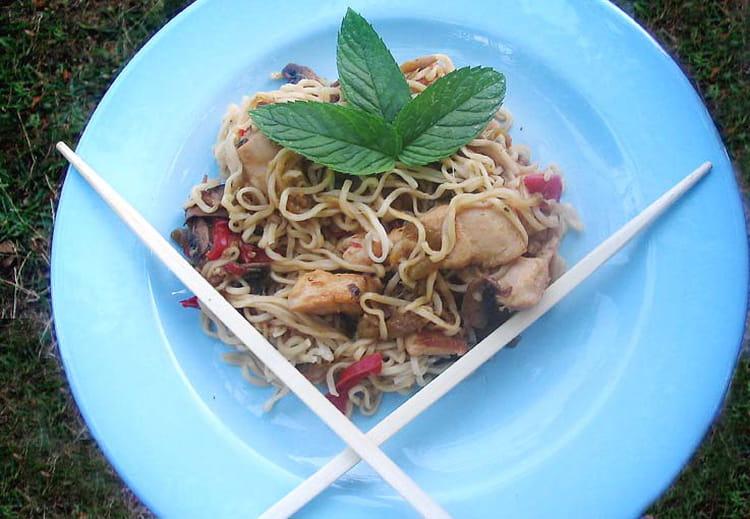 recette de nouilles chinoises faciles au poulet la
