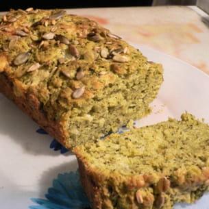 cake fondant au pesto et au gouda