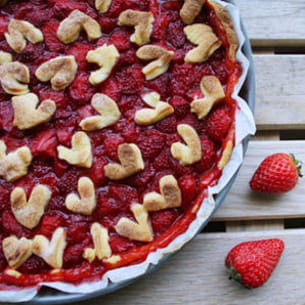 la love pie aux fraises