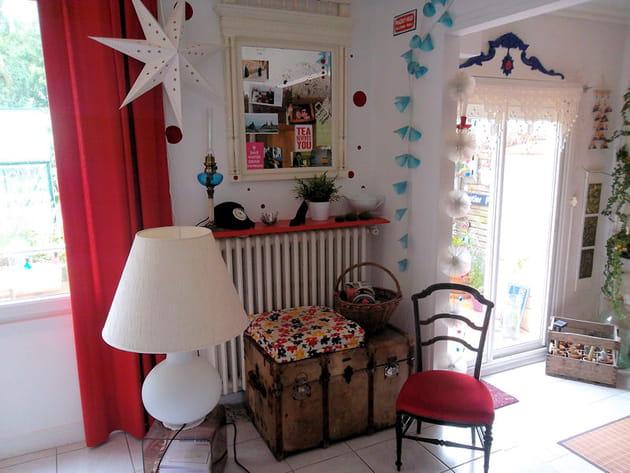 Salon déco vintage et contemporaine
