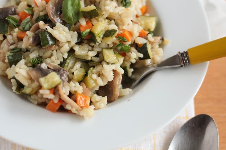 Risotto aux légumes vegan