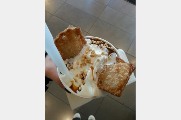 Sunday et apple pie chez McDonald's