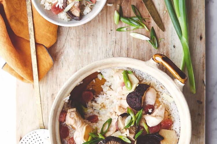 Marmite de poulet & saucisse chinoise