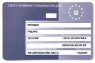 carte européenne d'assurance maladie.