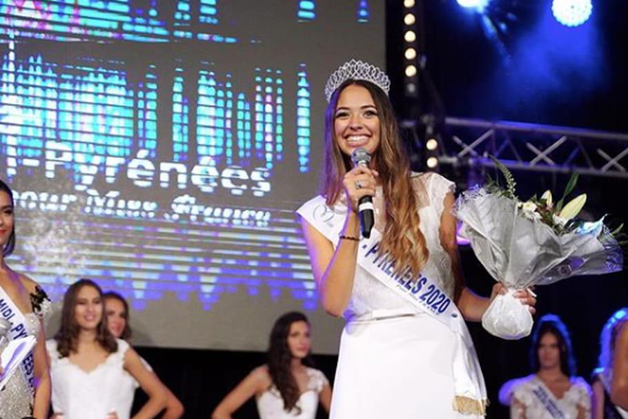 Emma Arrebot-Natou, élue Miss Midi-Pyrénées 2020après une éviction...