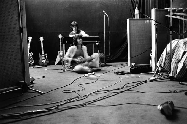 Mick Jagger & Keith Richards, studio