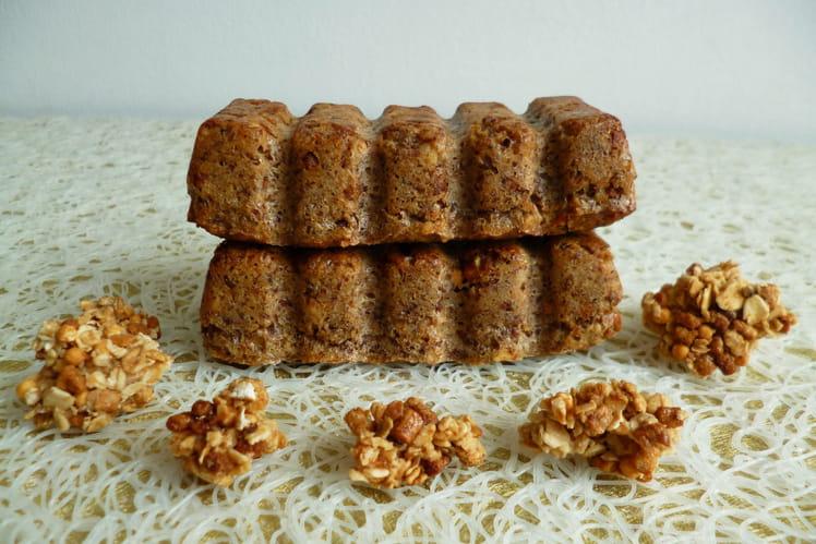 Barres-gâteaux au muesli, végans