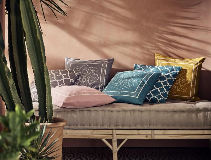 Housse de coussin turquoise H&M Home