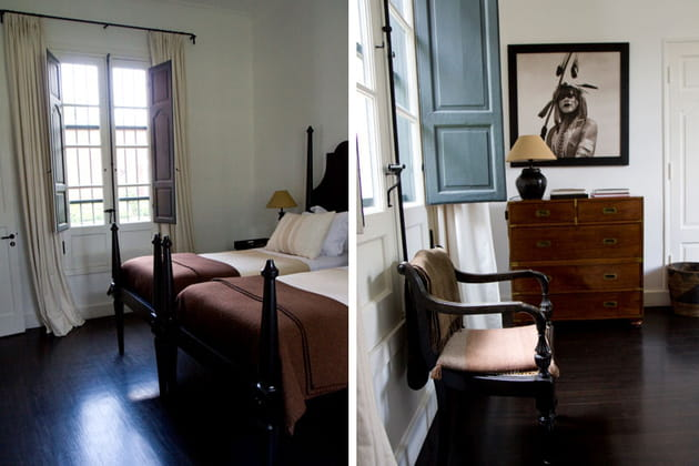 Chambre aux meubles rétro
