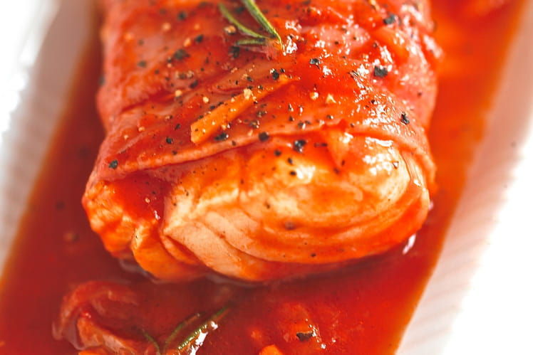 Cabillaud au Tomacouli® et au jambon de Bayonne