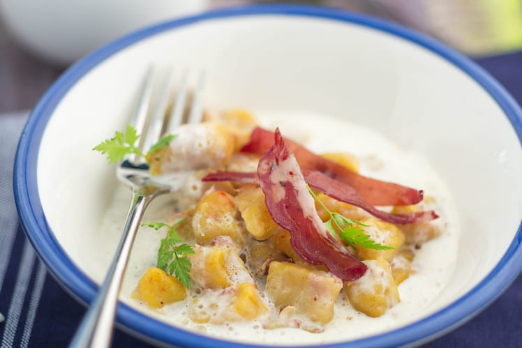 Gnocchi potiron, crème coppa et parmesan