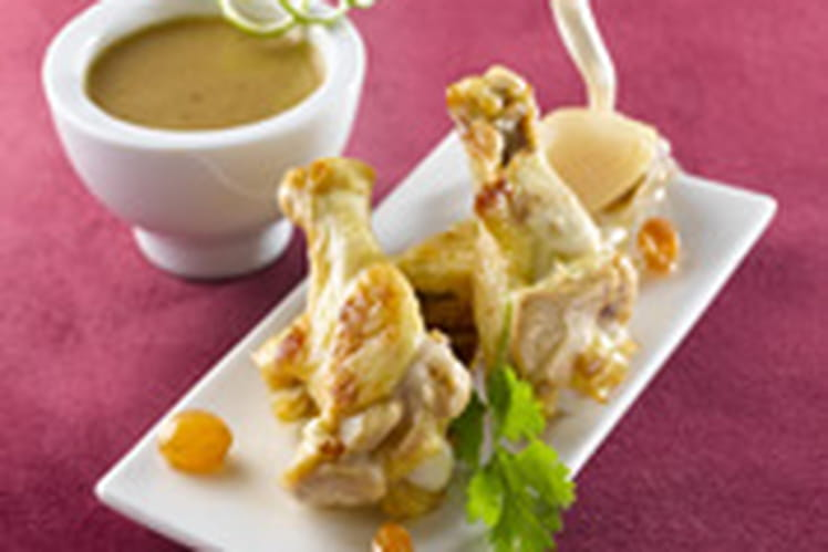 Ailerons de poulet façon tajine citron vert et ail