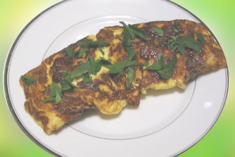 Omelette au chèvre et à la menthe fraîche